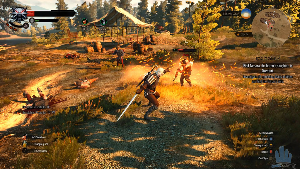 Combat The Witcher 3